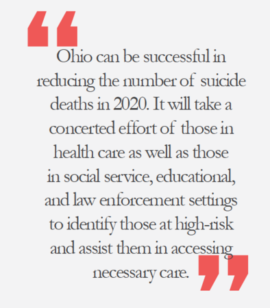 Suicidality in Ohio - pull quote